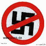 Sexypunk: Embroided patch: anti swastika