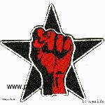 Sexypunk: Embroided patch: fist in a star