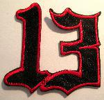 : 13 iron-on patch
