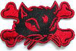 : Bad Kitty cat iron-on patch